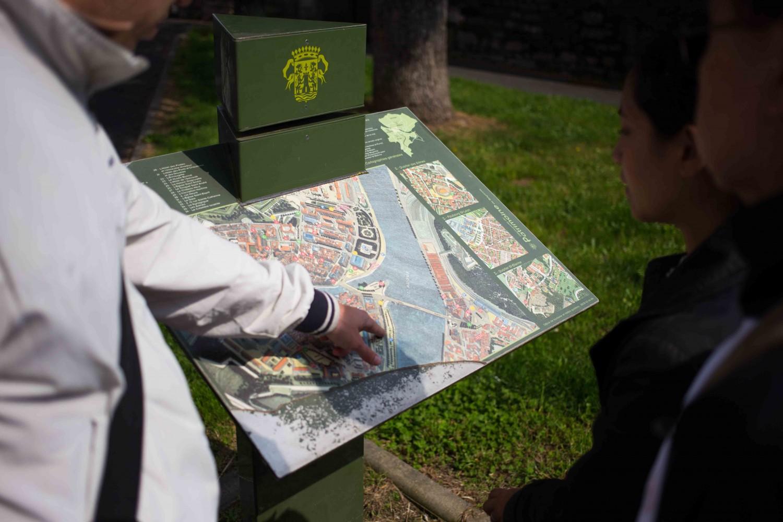 Plan du coeur historique de Bayonne